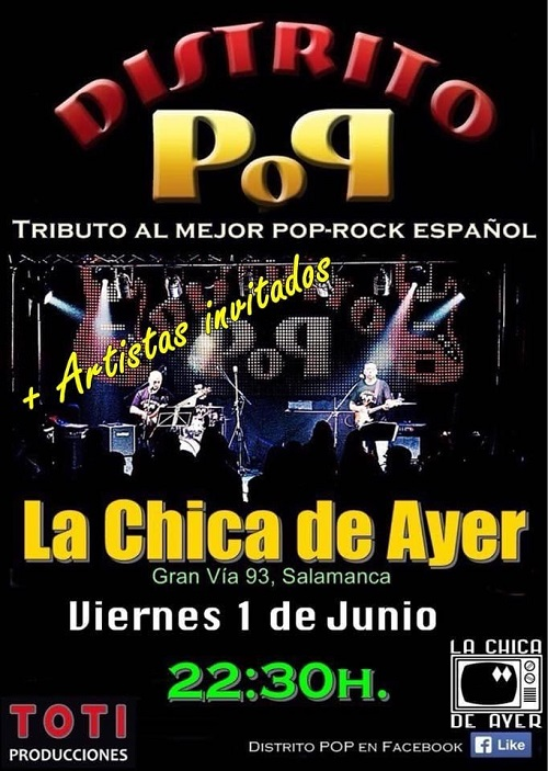 DISTRITO POP 'TRIBUTO AL MEJOR POP ROCK ESPAÑOL'