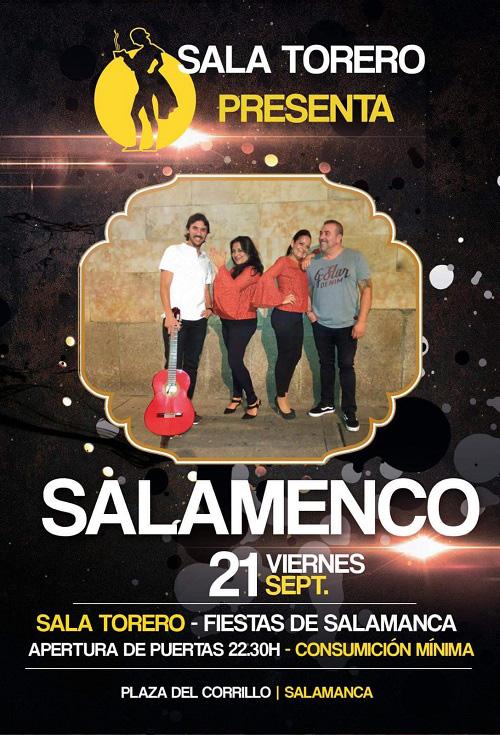 Fin de Feria el día de San Mateo con Salamenco en la Sala Torero Salamanca